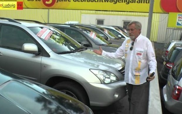 "Peter Rapp bei ""Auto Ludwig"""