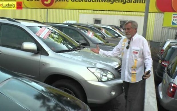 "Peter Rapp bei ""Auto Ludwig"""